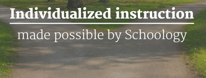 Schoology-individualized instruction